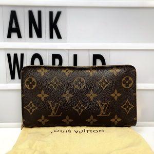 Louis Vuitton Zippy monogram long zip Wallet